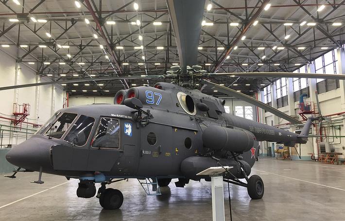 «Вертолеты России» изготовили первый «арктический» вертолет Ми-8АМТШ-ВА для авиации ВМФ России