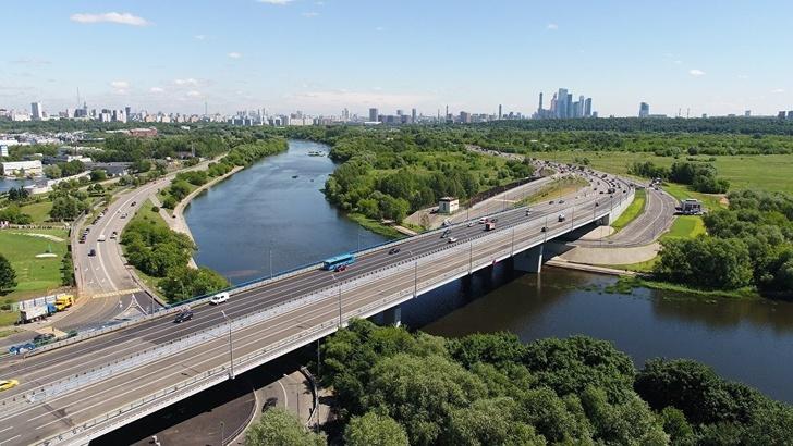 Новый Крылатский мост, открытый 2 июля 2018
