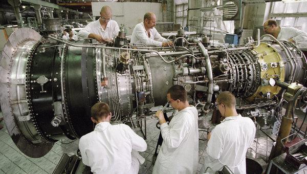 Сборочный цех, в котором осуществляется серийное производство газотурбинных установок (ГТУ) для теплоэлектростанций нового поколения. Архивное фото