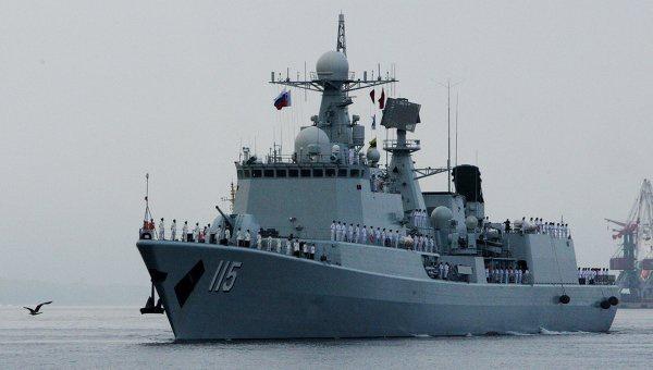 Церемония встречи китайских кораблей во Владивостоке