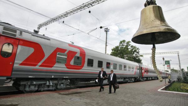 Поезд ОАО РЖД. Архивное фото