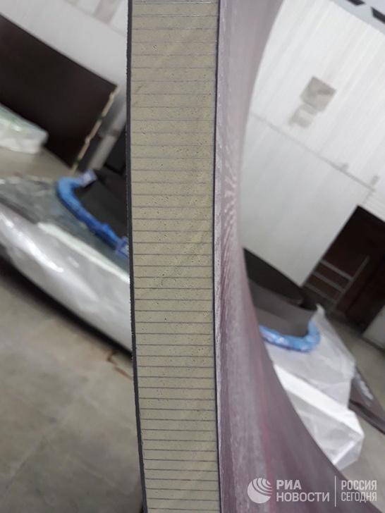 Деталь обшивки РН в разрезе