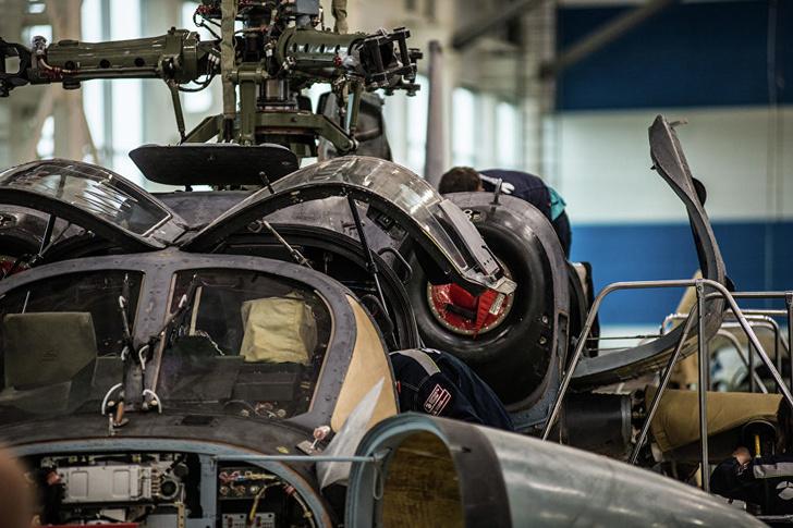 Вертолет Ка-52 «Аллигатор» на линии окончательной сборки