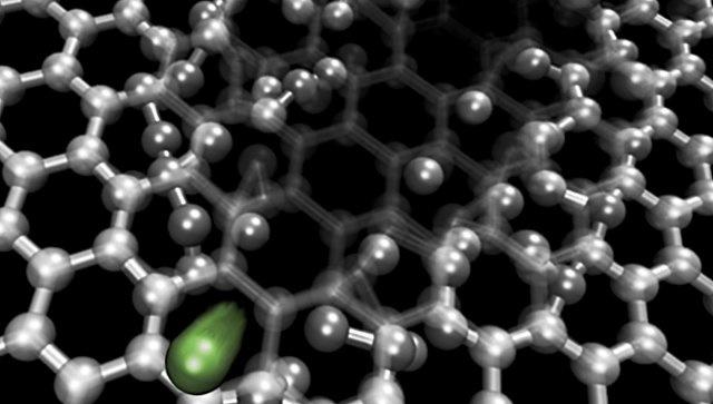 Иллюстрация к статье Российские физики научились делать нанопоры в графене