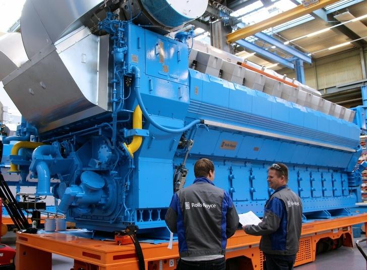 170 тонный газовый двигатель из Бергена