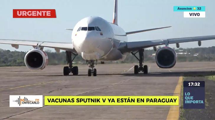 @SomosGEN. Первая партия вакцины «Спутник V» прибыла в 17:30 в аэропорт Сильвио Петтиросси Асунсьона
