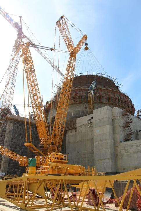 ЛАЭС-2: на штатное место установлен нижний ярус гермооболочки здания реактора энергоблока №2 ВВЭР-1200