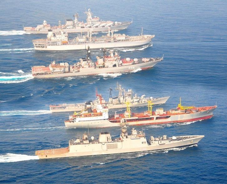 Российско-индийские военно-морские учения «ИНДРА НЭВИ-2018»
