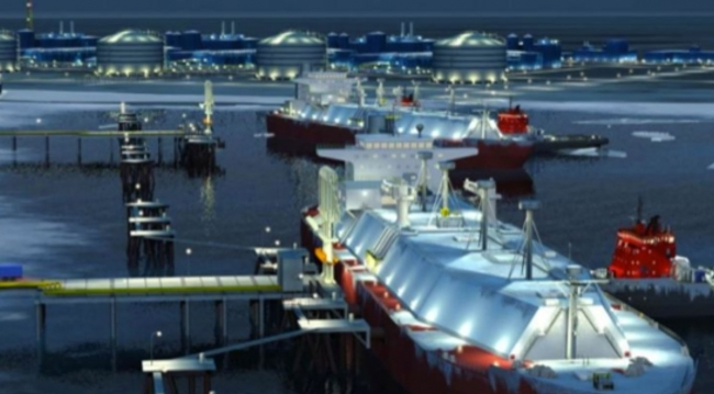 Порт Сабетта станет одним из крупнейших в Арктике (илл.: презентация проекта компании «Новатэк»)