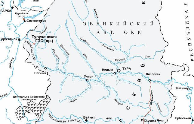 Схема водохранилища