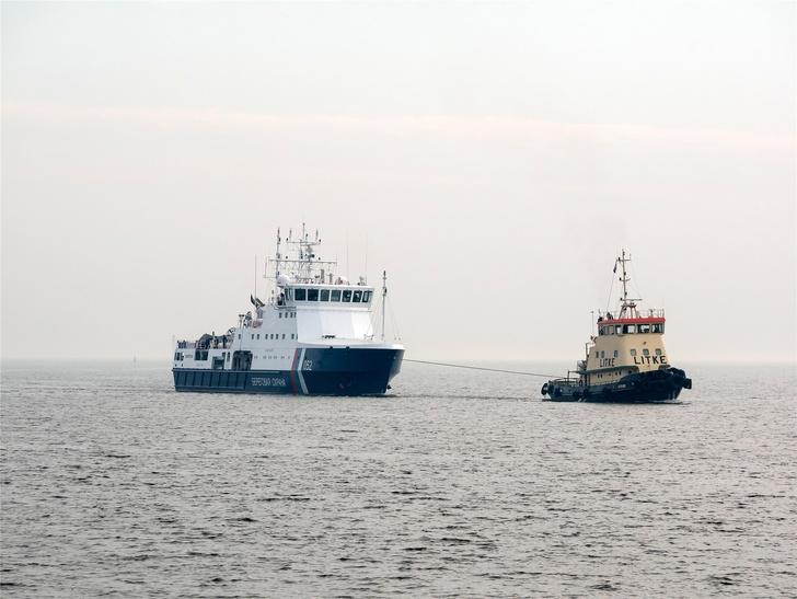 Пограничный патрульный корабль «Камчатка» ушёл на ходовые испытания