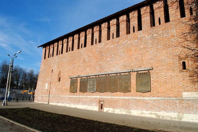 прясла стены XVIII и XIX веков