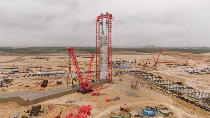 Строительство Амурского газохимического комплекса