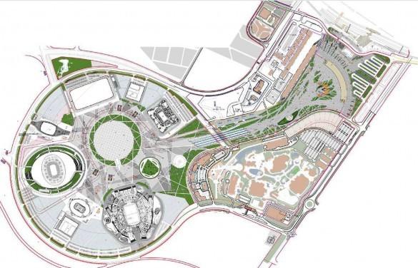 Схема территории Олимпийского парка.