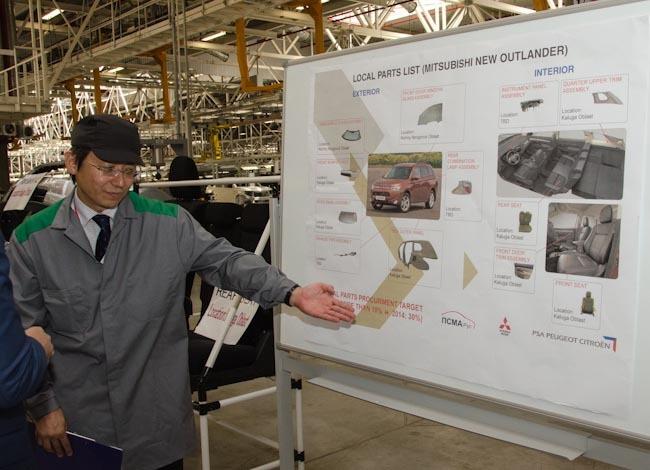 на новом Mitsubishi Outlander также будут использоваться российские компоненты