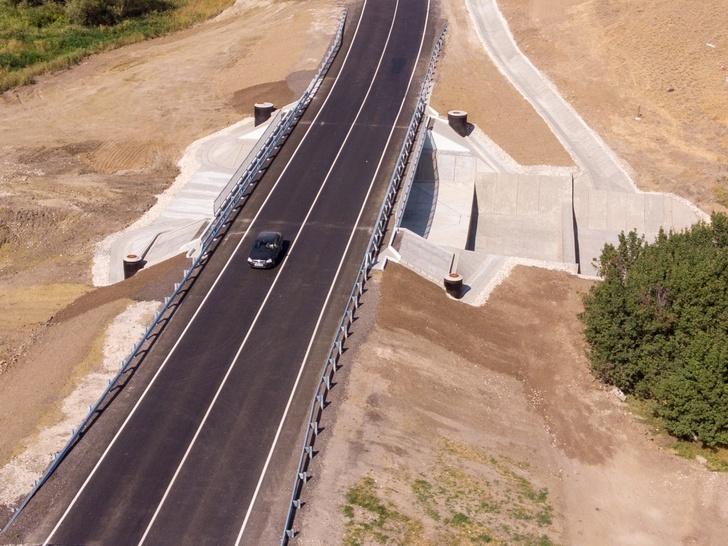 В Волгоградской области открыли мост через суходол на трассе Р-228