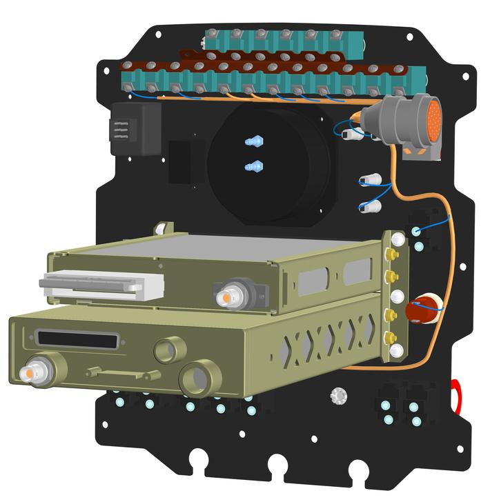 Использование приложения «Оборудование: Кабели и жгуты» в проектировании приборной панели