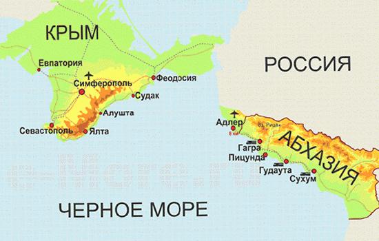 Крым и Абхазия