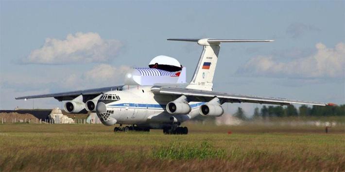 """АСК """"Вьюга"""" на самолёте-носителе Ил-76 / Фото (с) Лин Индастриал, https://spacelin.ru"""