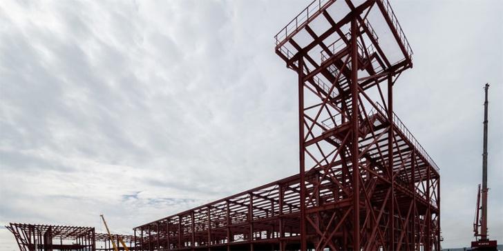 Смонтирована половина металлического каркаса нового Южно-Сахалинского аэропорта