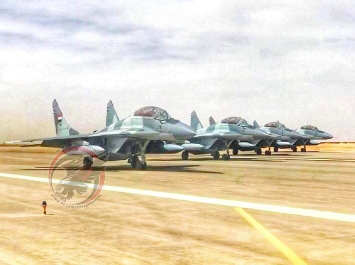 Истребители МиГ-29М ВВС Египта