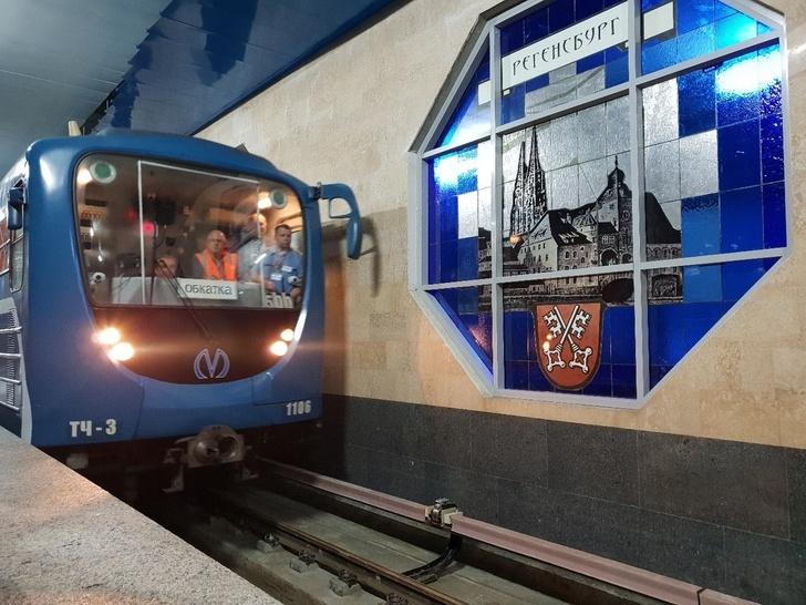 В Санкт-Петербурге до станции метро «Шушары» прошёл первый поезд