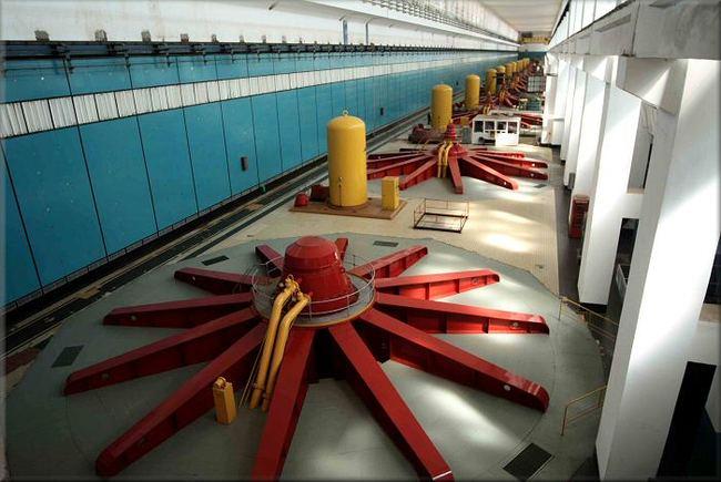 Волжская ГЭС - машинный зал