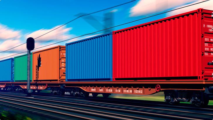 Объем транзитных контейнерных перевозок по сети РЖД в январе - ноябре вырос на 14%