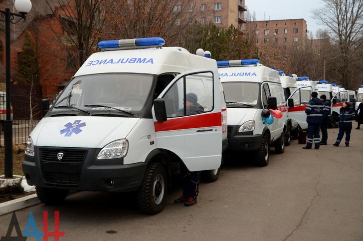 В Донецкую Народную Республику отправлены 30 машин скорой помощи