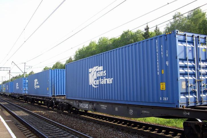 «ТрансКонтейнер» и Maersk запустили регулярный контейнерный поезд