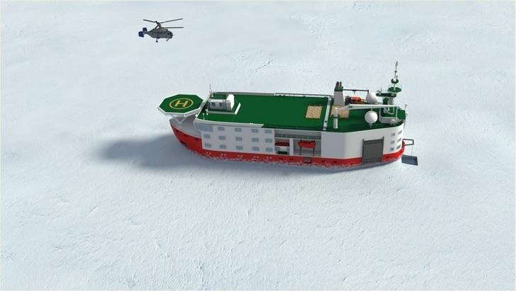Концептуальный облик ледостойкой самодвижущейся платформы «Северный полюс». Изображение 2014 года.