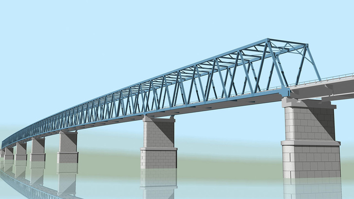Эскиз нового моста через Енисей