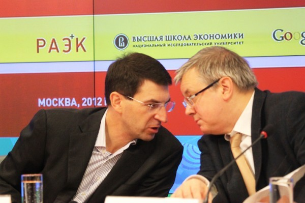 Пресс-конференция Игоря Щеголева и Ярослава Кузьминова