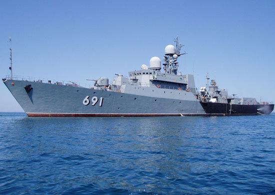 The flagship of the Caspian Flotilla sailed for firings
