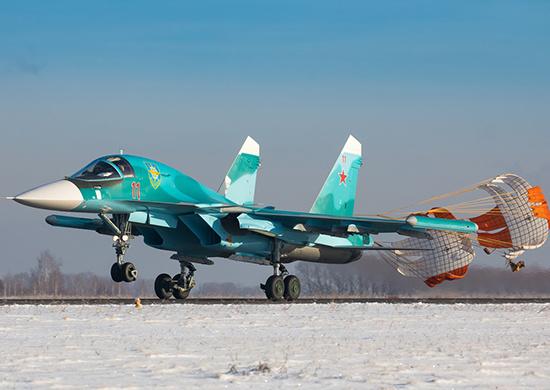 В Центральный военный округ по гособоронзаказу поступили два истребителя-бомбардировщика Су-34
