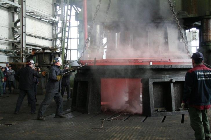 Изготовление заготовки днищ для ёмкостей САОЗ Курской АЭС