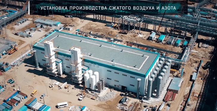 Установка производства сжатого воздуха и азота ЗапСибНефтехима. Май 2018 г