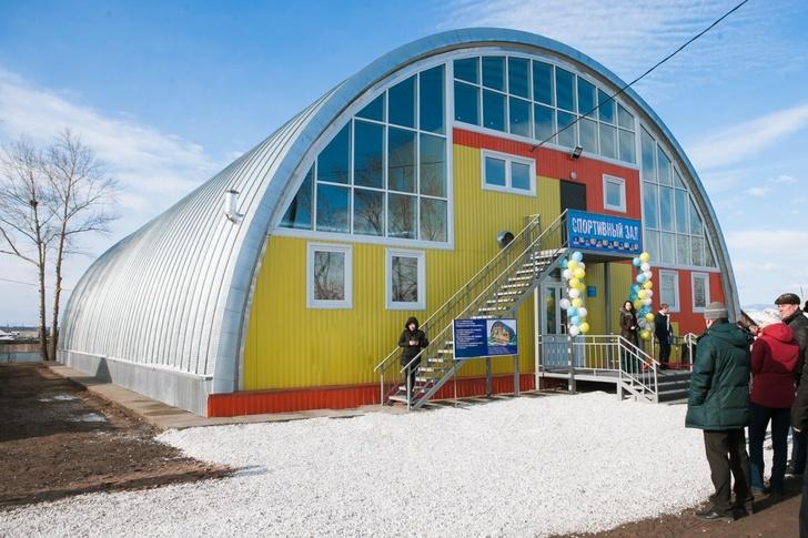 В Бурятии открылся новый школьный спортзал