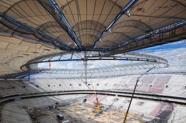 Варшавский стадион, на котором состоится первый матч Евро-2012