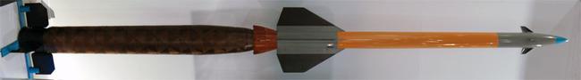 "ЗУР 57Э6Е на выставке МАКС-2009, 21.08.2009 г. (фото - Allocer,<a href=""http://ru.wikipedia.org)."" title=""http://ru.wikipedia.org)."">http://ru.wikipedia.org).</a>"