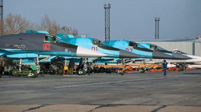 """Су-34 на базе """"Балтимор"""" под Воронежем"""