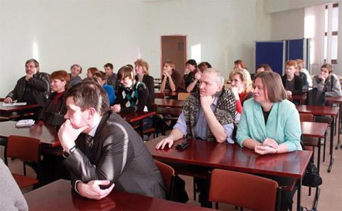 Участники семинара «Современные нанотехнологии в образовании», приуроченного к открытию Нанокласса в Лицее «Физико-техническая школа»