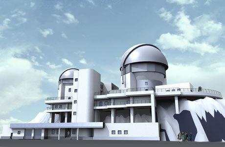 Общий вид второй очереди (проект) АОЛЦ с телескопом 3,12 м