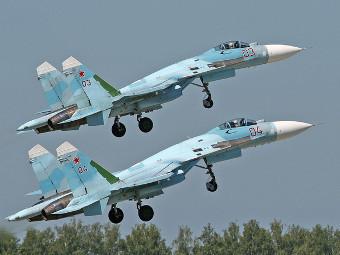 Смех!  Вот они пара Су-27СМ, с виду не отличишь от обычного...