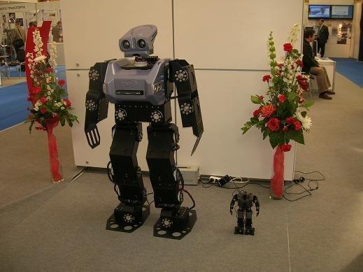 Первые разработки компании, используемые РЖД в качестве презентаторов с 2008 года — полноразмерный робот АР-400 (1м40 см) и малый робот АР-100 (35 см)