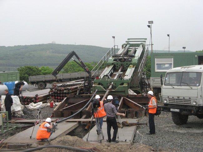 Тоннель для газопровода на остров Русский прокладывает уникальный буровой комплекс