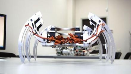 MR 200 — Мобильная платформа оснащена 6-animals конечностями, что обеспечивает высокую проходимость. Она может вести наблюдение, выбирая любое направление движения и выдерживая переходы по любому направлению пересеченной местности, обходя препятствия