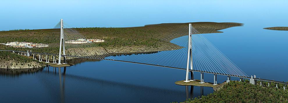 Строительство моста на остров Русский осуществляется в рамках