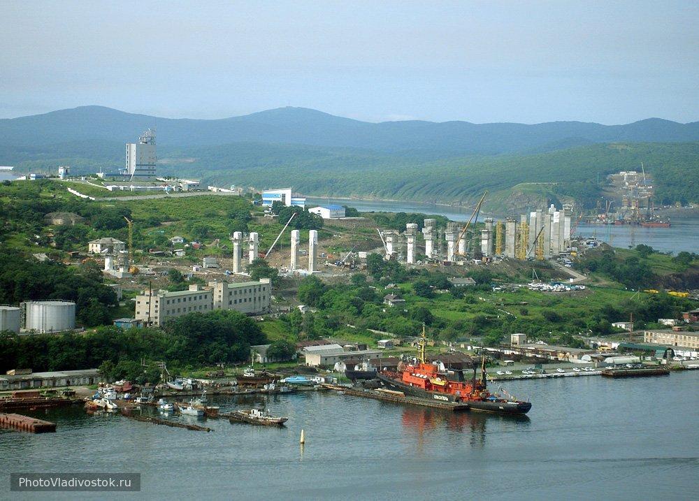 Стройка моста на остров Русский. АТЭС 2012. Фотографии Владивостока