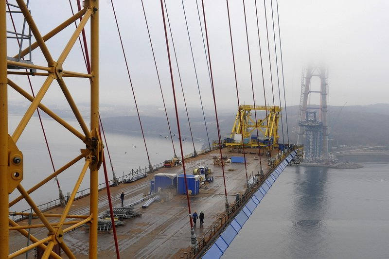 Мост на остров Русский (44 фото) .